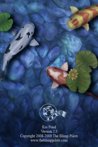 9年前のiPhone3Gに、鯉たちが泳いでいた。